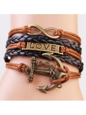 Stilvolle Anchor Infinite-Strang-Armband