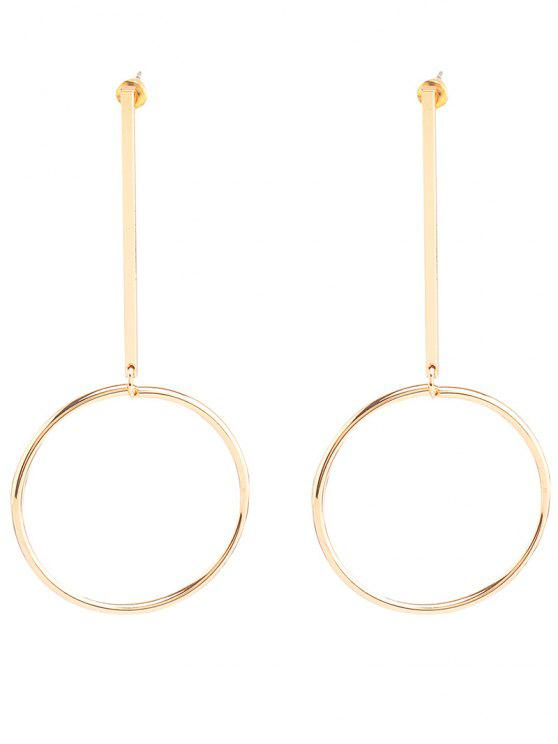 hot Circle Bar Earrings - GOLDEN