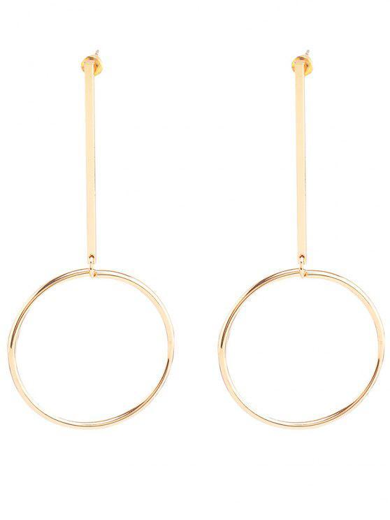 Paire de boucles d'oreilles argentées pour les femmes - Or