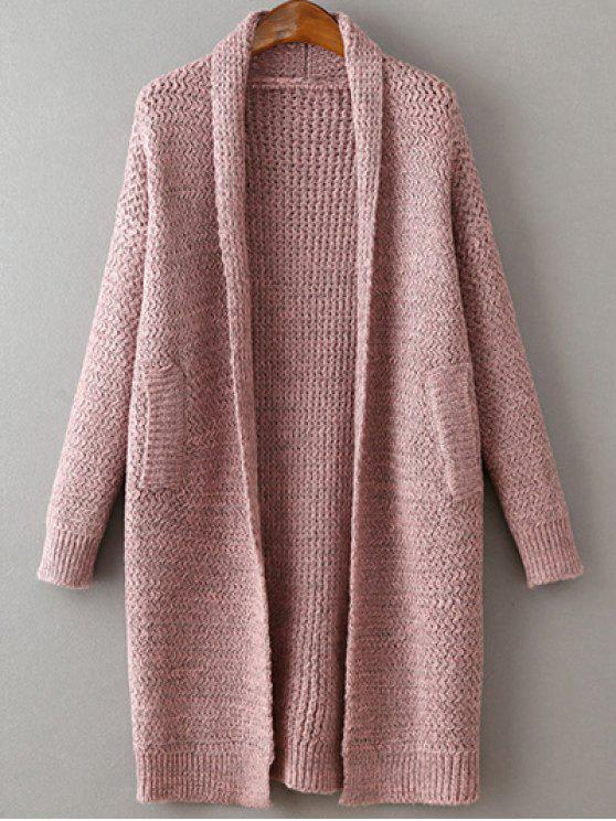 trendy Pockets Cardigan - PINK ONE SIZE