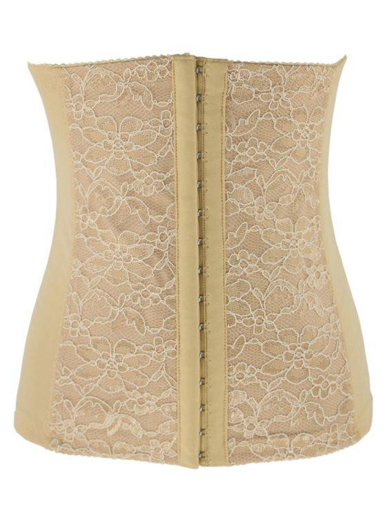 Lacework Spliced ​​Waist Training Corset - Abricot S