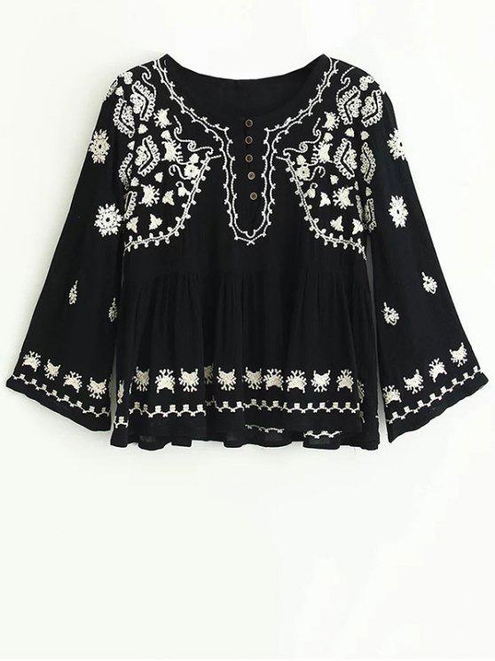 outfit Embroidered Boho Top - BLACK M