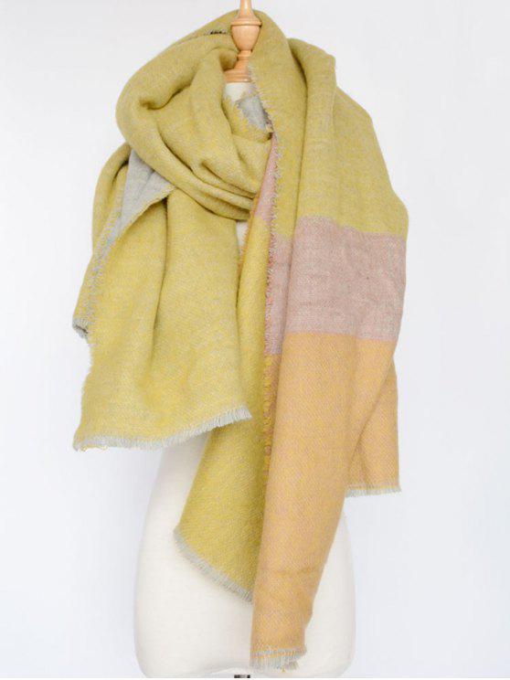 Bufanda a cuadros en color - Amarillo