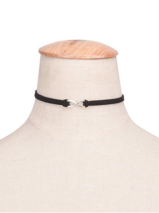 affordable 8 Shape Velvet Choker - BLACK