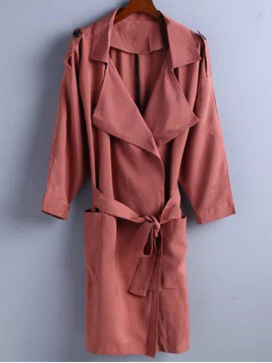 outfit Trench Coat - BRICK-RED M