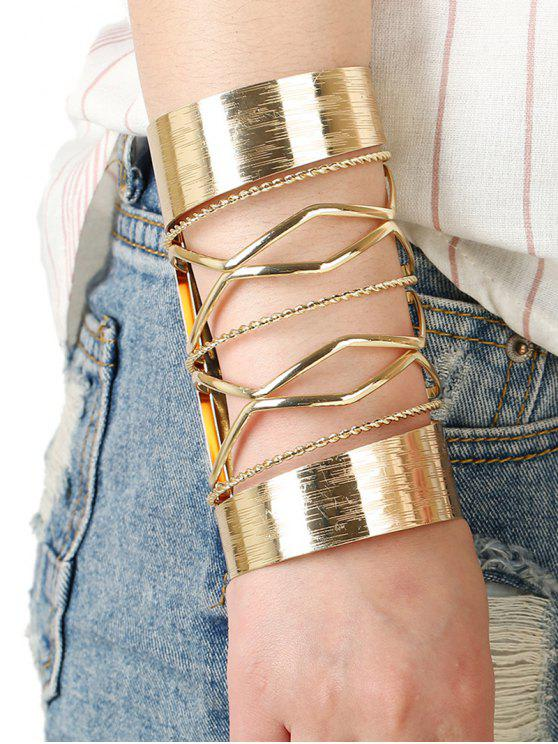 Recortable trenzado Pulsera para el brazo entrecruzado - Dorado