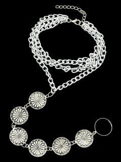 Blossom Anklet - Silver