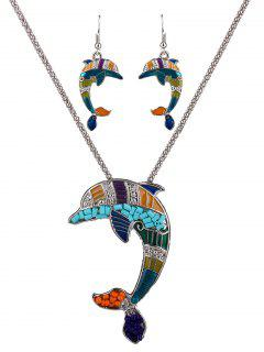 Resin Beads Dolphin Necklace Set