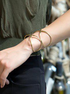 Heart Crisscross Layered Bracelet - Golden