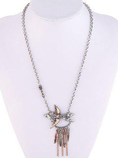 Arrow Fringed Necklace - Silver