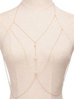 Faux Chain Perle Sandbeach Body - Or