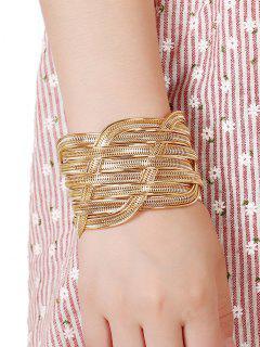 Cut Out Chain Cuff Bracelet - Platinum