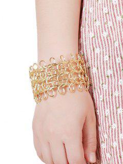 Loop Design Cut Out Bracelet - Golden