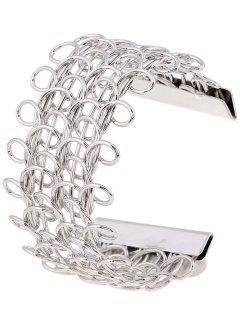 Cut Out Loop Pulsera Diseño - Plata