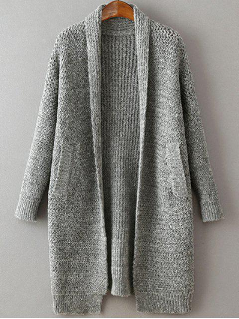 latest Pockets Cardigan - GRAY ONE SIZE Mobile