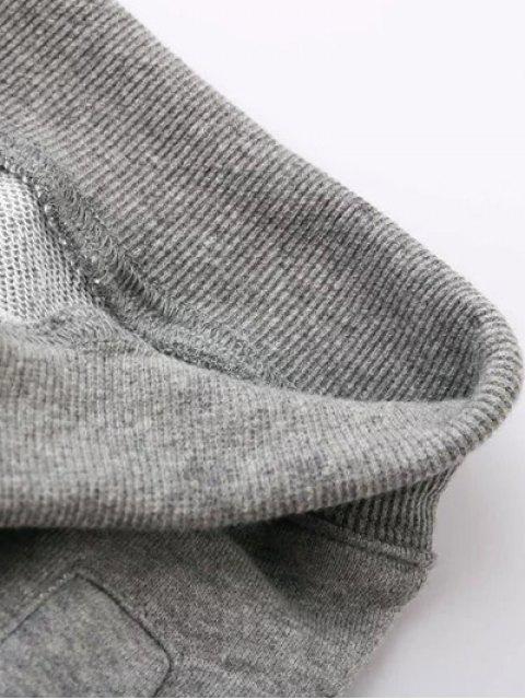 new Striped Drawstring Active Pants - PURPLISH BLUE L Mobile