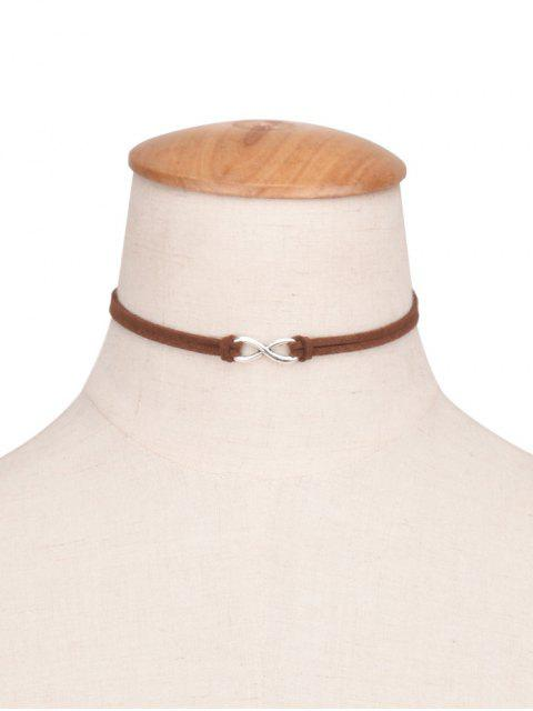 8 Form Velvet Choker - Kaffee  Mobile