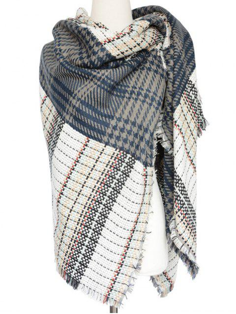 buy Houndstooth Woven Shawl Scarf -   Mobile