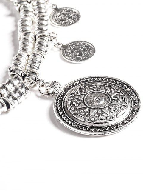 unique Coin Tassel Belly Chain - SILVER  Mobile