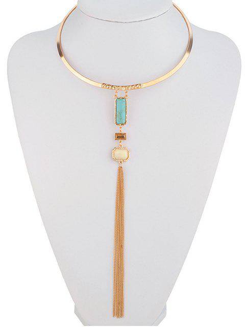 shops Long Tassel Torques - GOLDEN  Mobile