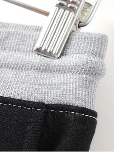 shops Color Block Jogging Pants - GRAY S Mobile
