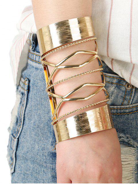 shops Cut Out Twisted Crisscross Cuff Bracelet -   Mobile