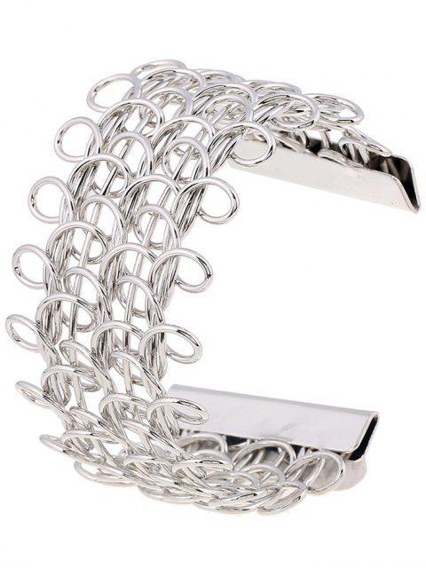 womens Loop Design Cut Out Bracelet - SILVER  Mobile