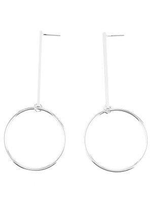 Circle Bar Earrings - Silver