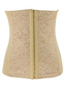 Lacework Spliced Waist Training Corset - Apricot S