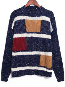 Geometric Pattern Jumper - Purplish Blue