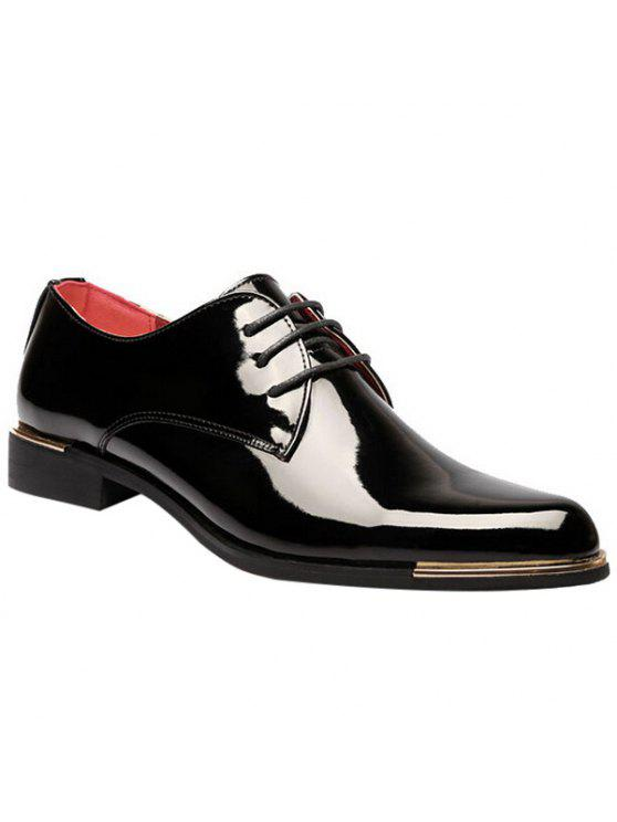 bc3e6d2588f2 Fashion Patent Leather And Tie Up Design Formal Shoes For Men - Black 42