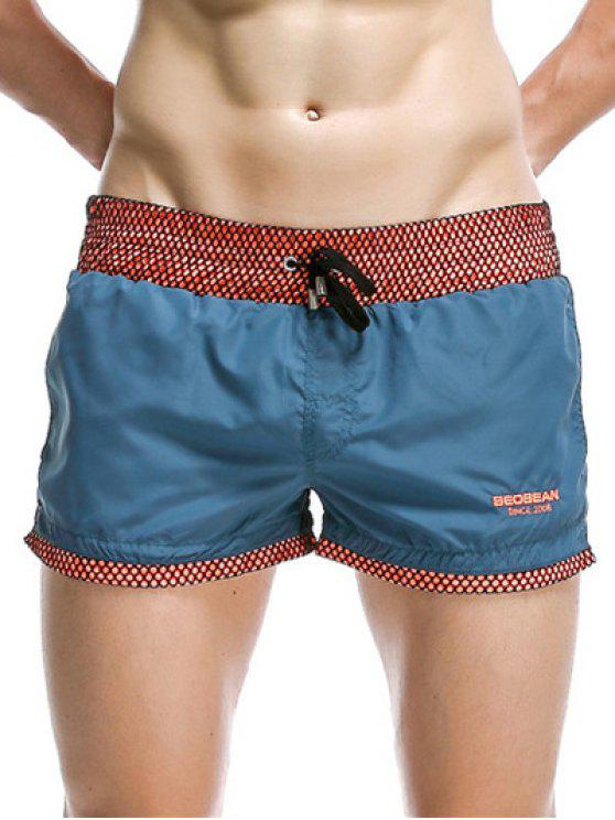 Pantaloncini Da Uomo Casual Con Design Di Cintura A Coulisse - Blu M