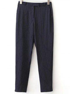OL De Rayas Pantalones De Los Bolsillos - Azul Purpúreo S
