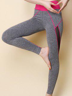 Hit Leggings Couleur Sport Skinny - Rose M