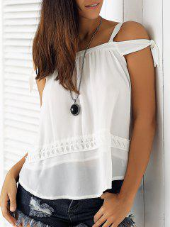 White Hollow Cami Off The Shoulder Blouse - White S