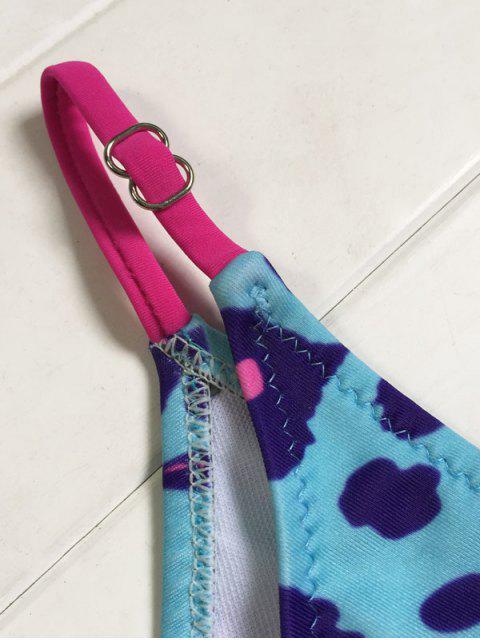 buy V-String Leopard Bikini Set - BLUE L Mobile