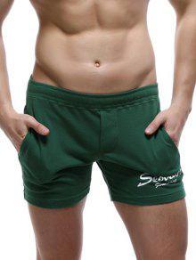 عارضة نمط جيوب تصميم إلكتروني طباعة السراويل صالة للرجال - مسود الخضراء M