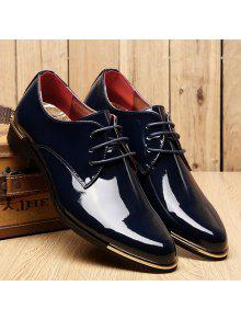 1e2ba10f6c12 23% OFF] 2019 Fashion Patent Leather And Tie Up Design Formal Shoes ...