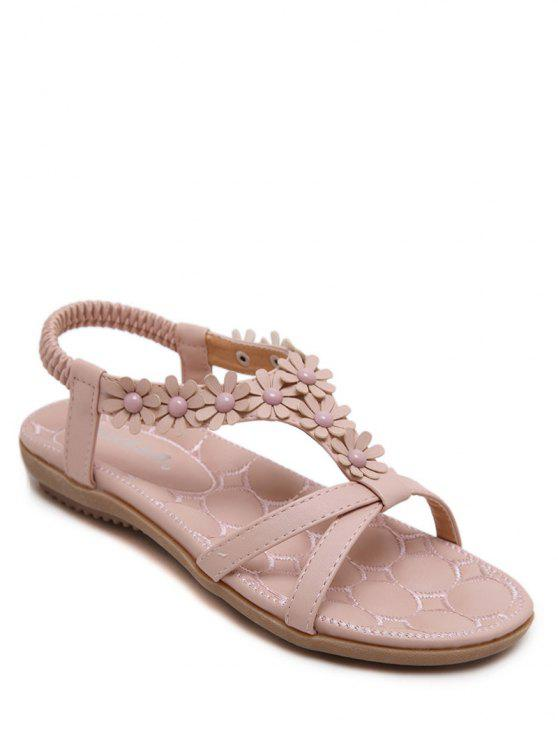 Flowers t bar flat heel sandals pink sandals 39 zaful outfit flowers t bar flat heel sandals pink 39 mightylinksfo Gallery