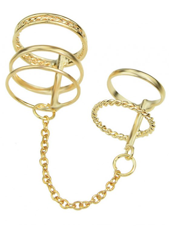Ahueca hacia fuera el anillo - Dorado Uno de tamaño