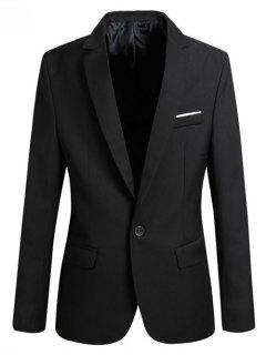 Lapel Slim Fit Men Blazer - Black 2xl
