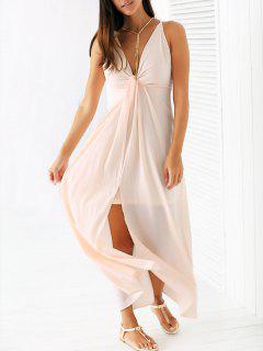 Light Pink Cami Chiffon Maxi Dress - Light Pink S