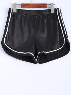 Piped Sports Shorts - Black S