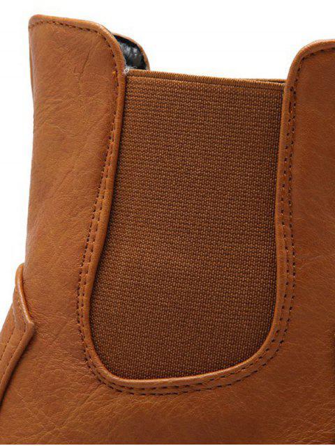 best Solid Color Elastic Band Short Boots -   Mobile