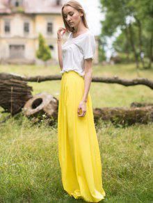 8aeb5e62981 30% OFF] 2019 Yellow High Waist Maxi Skirt In YELLOW | ZAFUL