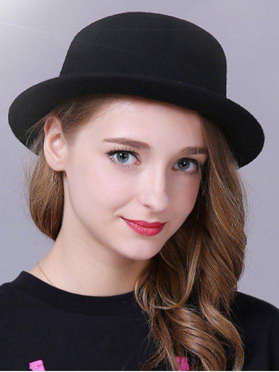affordable Braid Decorated Bowler Hat - BLACK