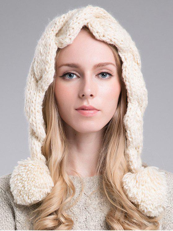 sale Ball Embellished Knitted Hat - OFF-WHITE