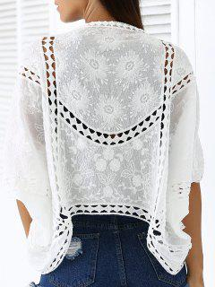 Évider Batwing Sleeve Cape Lace - Blanc