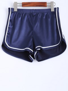 Piped Sports Shorts - Cadetblue M