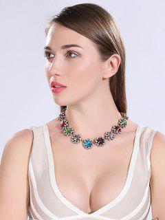 Rhinestone Embellished Faux Crystal Necklace